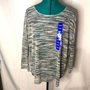 OLIVE & OAK • sheer blouse • 3/4 sleeve • NWT